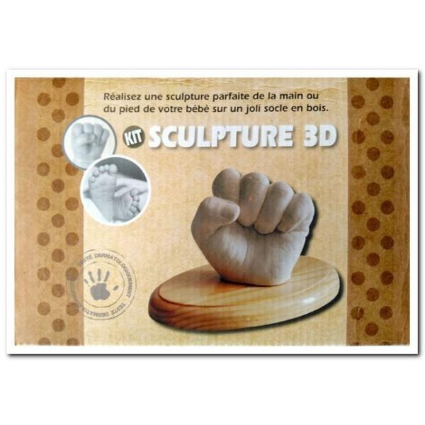 ESCULTURA 3D MANO O PIE PARA BEBES