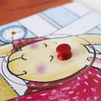 PUZZLE INFANTIL DE CONEJITOS EN MADERA