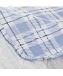 COLCHA MODELO PATCH BLUE DE MICROFIBRA 190 X 260 CM
