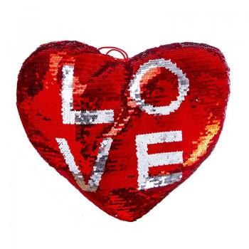 COJIN FORMA DE CORAZON LOVE