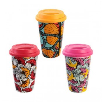 MUG TÉRMICO DOBLE PARED BATIK 350 ML
