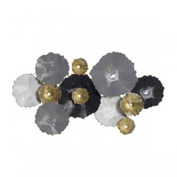 decoracion-pared-metal-circulos-negro