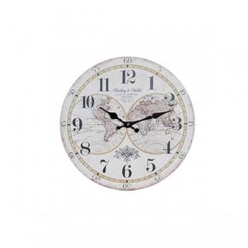 reloj-pared-mapamundi-negro