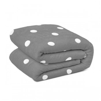 MANTA PLAID DOTS GRIS 130X170
