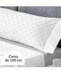 JUEGO DE SÁBANAS GILDA GRIS CAMA 150