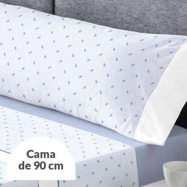 JUEGO DE SÁBANAS GILDA AZUL CAMA 90