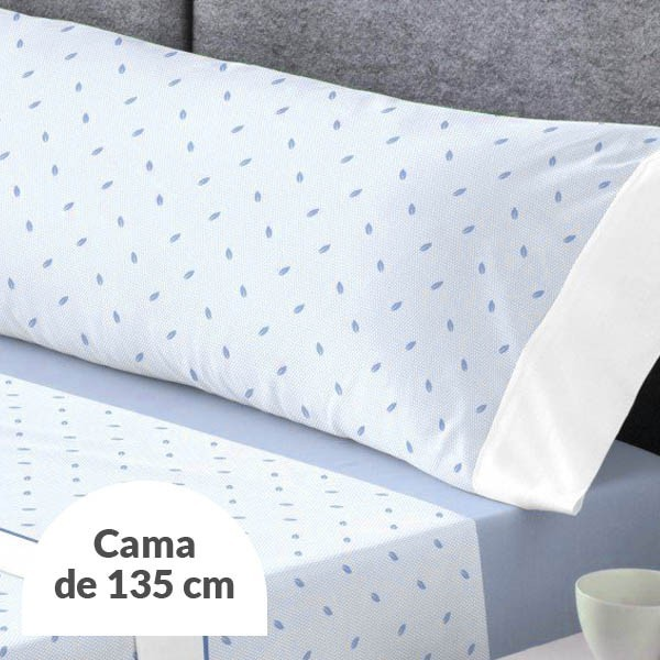 JUEGO DE SÁBANAS GILDA AZUL CAMA 135