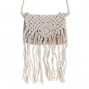 BOLSO MACRAMÉ NATURAL