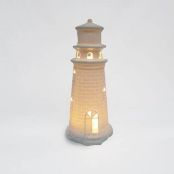 FARO DE PORCELANA LUMINOSO