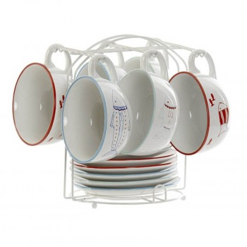 CAFE SET 6 GRES METAL PECES...
