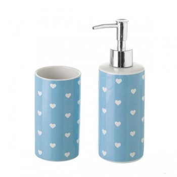 SET DE BAÑO HEART BLUE DE...