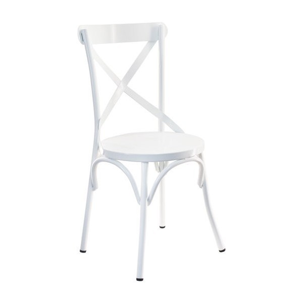SILLA ASPAS METAL COLOR BLANCO