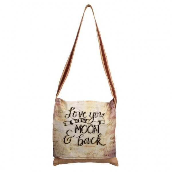 BOLSO BANDOLERA LOVE YOU MOON AND BACK 30X20CM