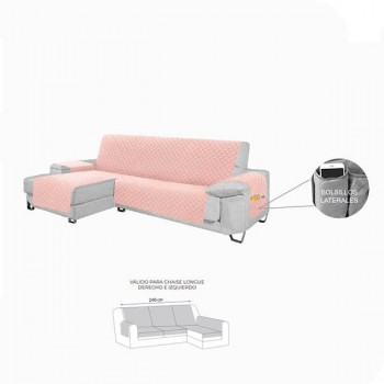CUBRE SOFA CHAISELONGE ROSA...