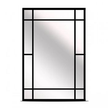 ESPEJO NEGRO METAL 89 x 61 cm