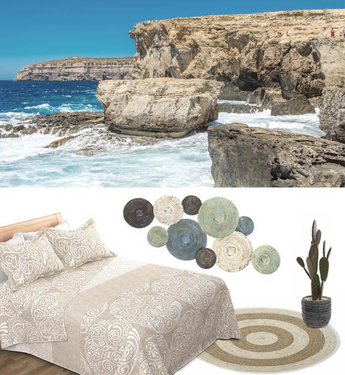 decoración dormitorio mediterráneo